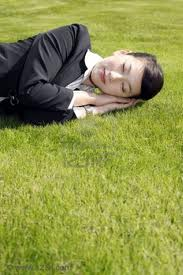 businesswoman sleeping