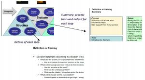 Decision framework excerpt